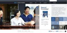 """Sharing information with everyone"" … reorganization of KAIST College of Business homepage 이미지"